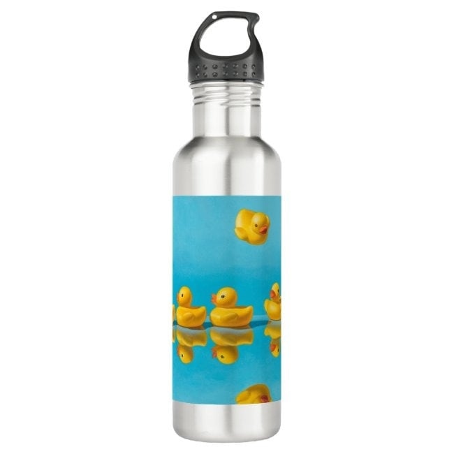 """""""Getting All Your Ducks in a Row"""" water bottle"""