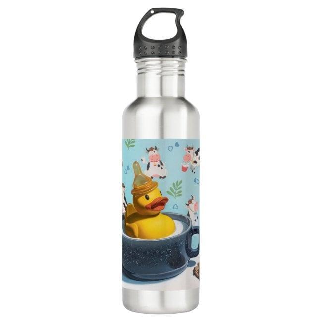 """Milk Duck"" water bottle"