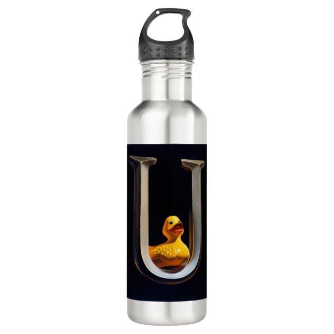 """""""Duck U"""" water bottle"""