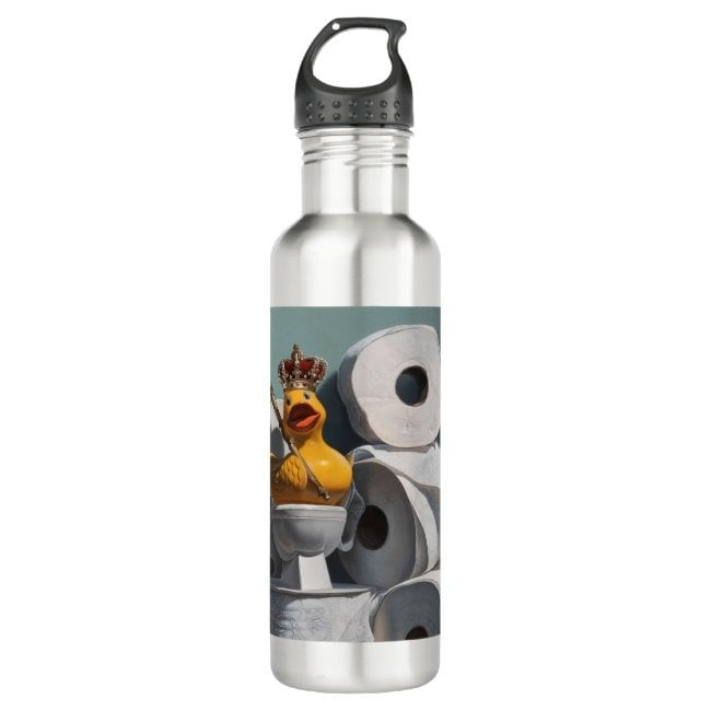 """""""What the Duck?!"""" water bottle"""