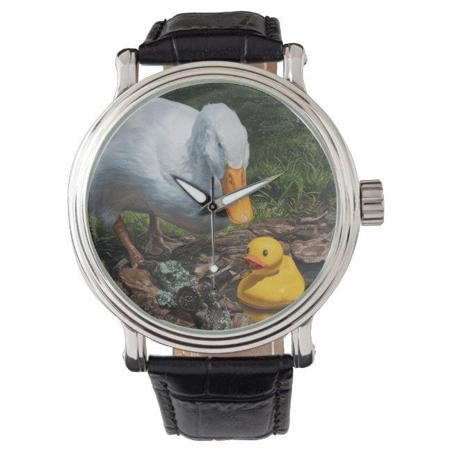 """""""If It Looks Like a Duck"""" wrist watch"""