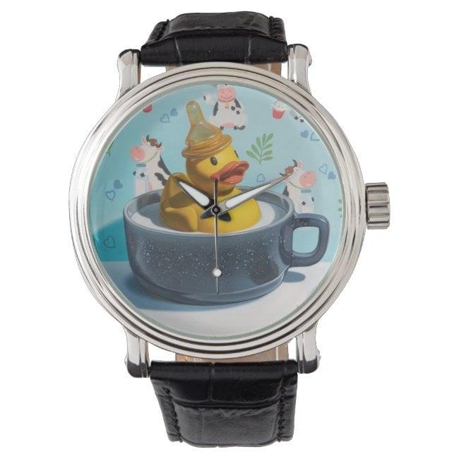 """""""Milk Duck"""" wrist watch"""