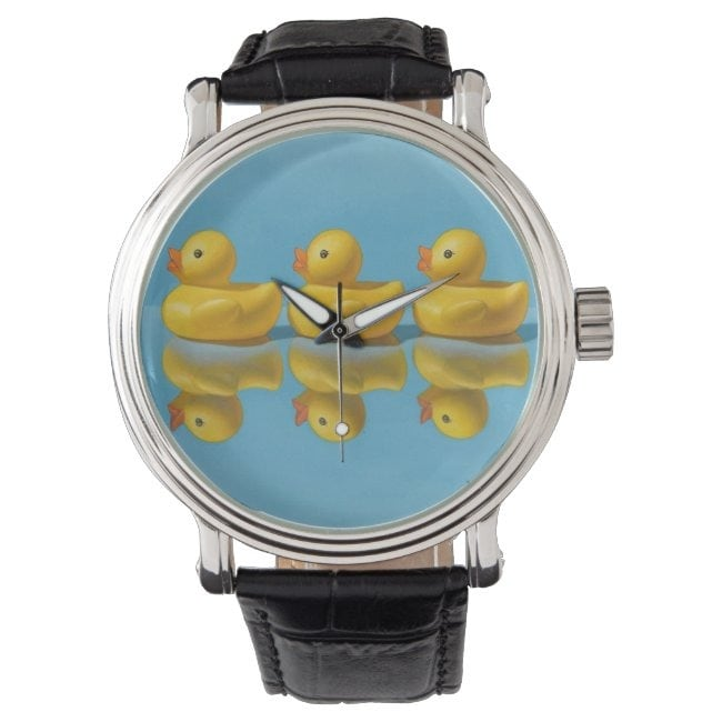 """""""Getting All Your Ducks in a Row"""" wrist watch"""