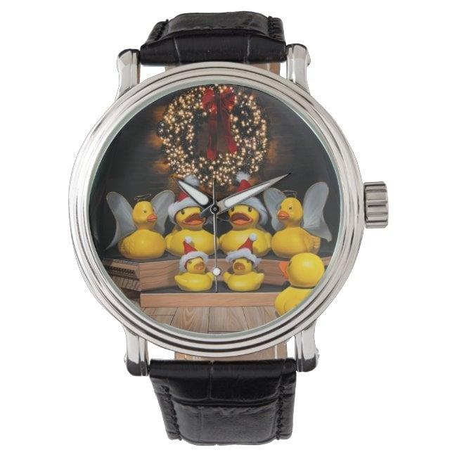 """""""Duck the Halls"""" wrist watch"""