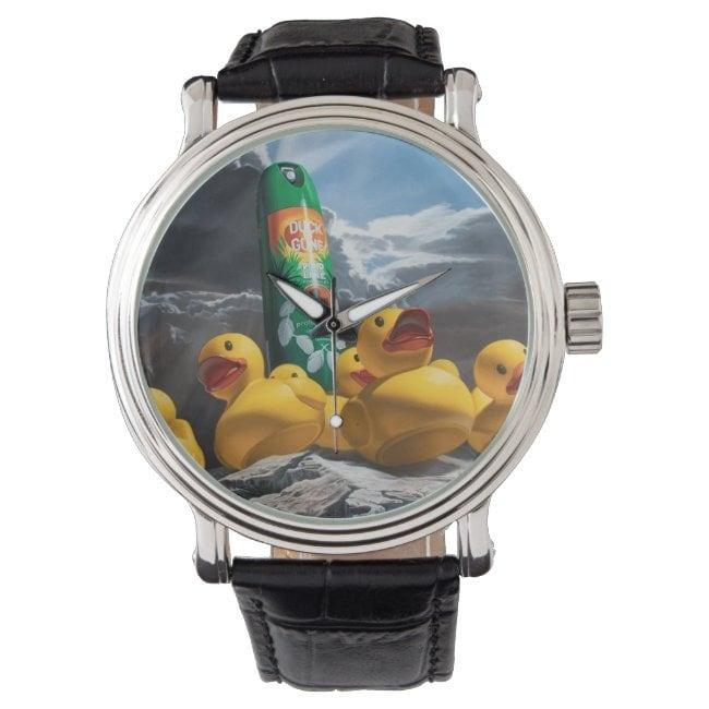 """Duck Off"" wrist watch"