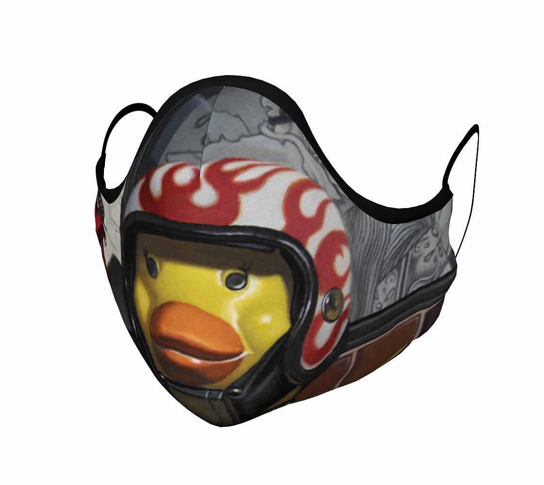 """Biker Chick"" face mask"