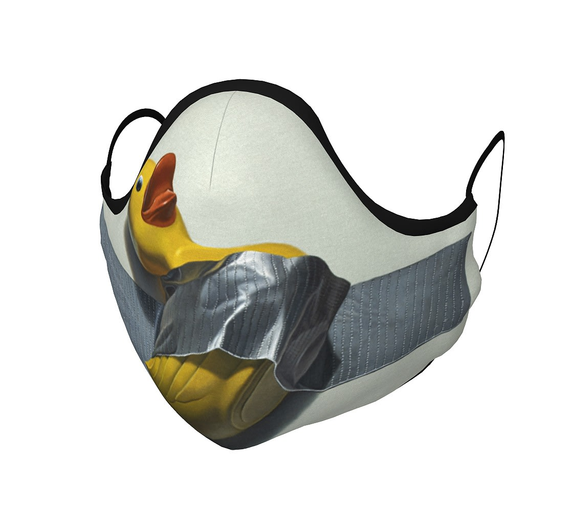 """""""Duck Taped"""" face mask"""