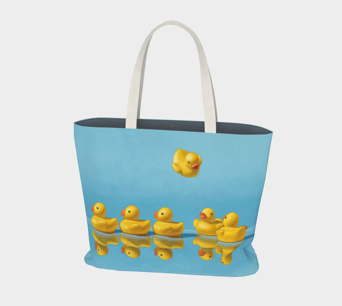 """""""Ducks in a Row"""" Large Tote"""