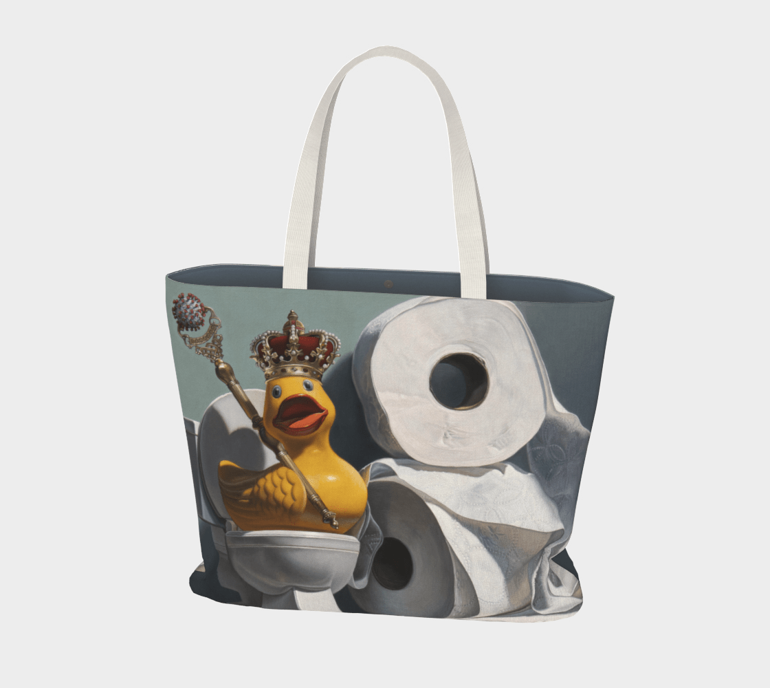 """""""What the Duck?!"""" Large Tote"""