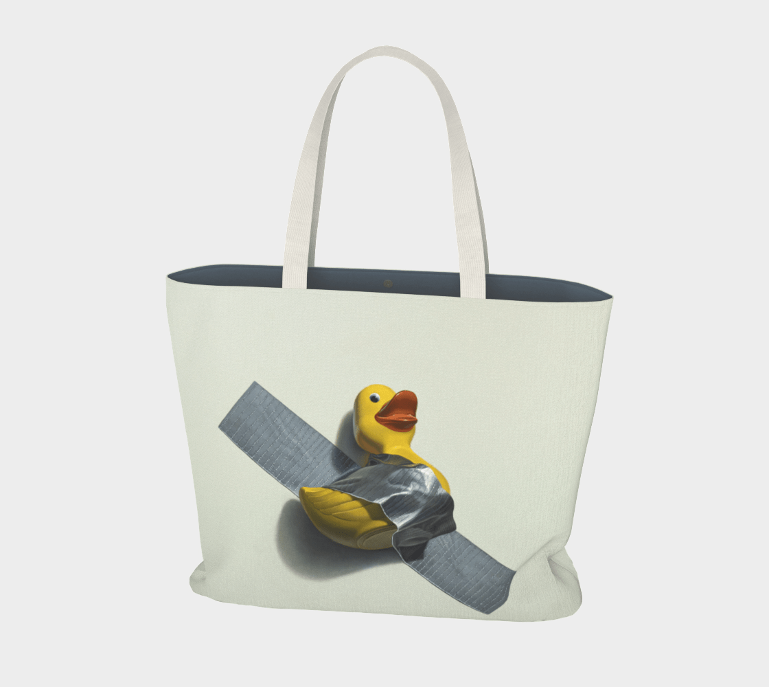 """""""Duck Taped"""" Large Tote"""