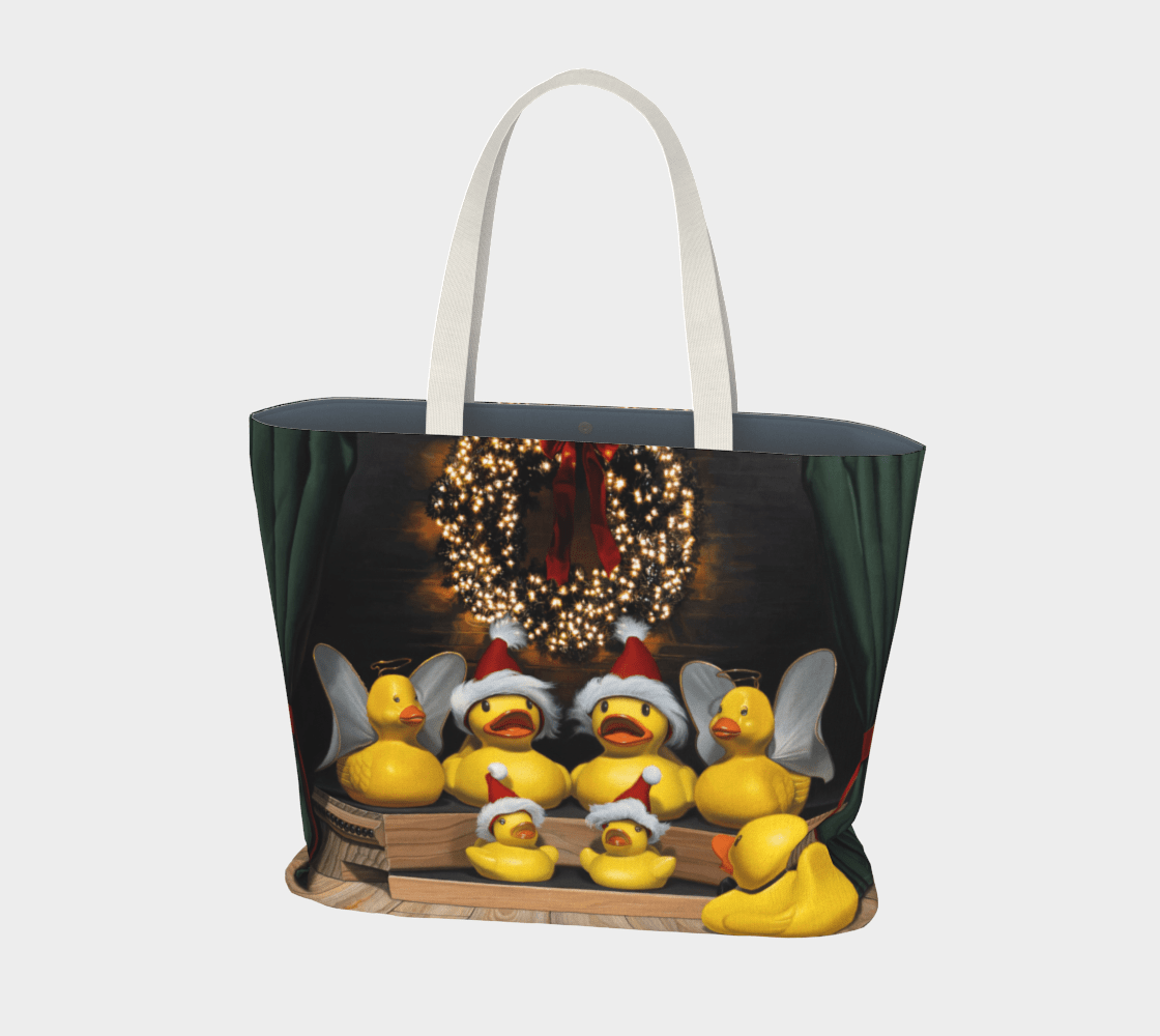 """""""Duck the Halls"""" Large Tote"""