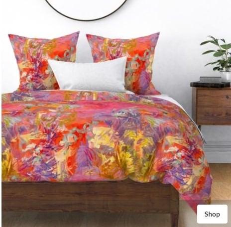Shop this duvet and matching decor fabrics