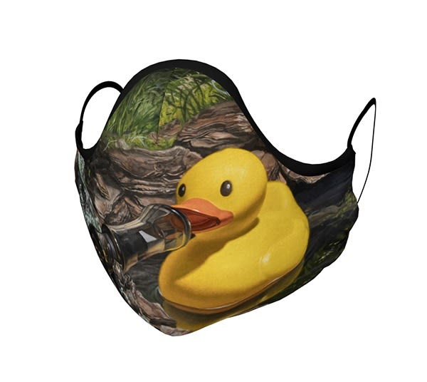 """If It Looks Like a Duck"""" face mask"""