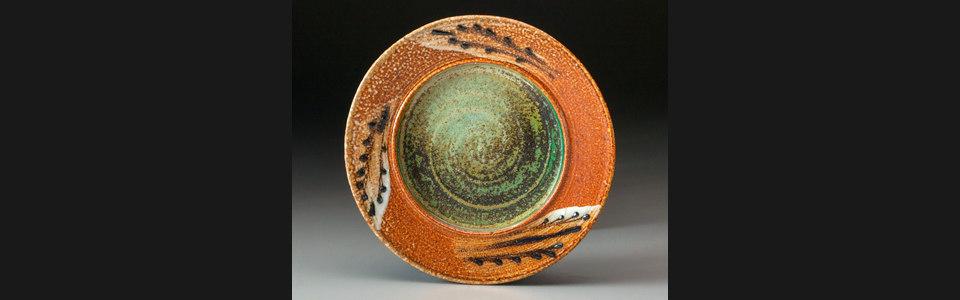 08 plate with green glaze azycwz