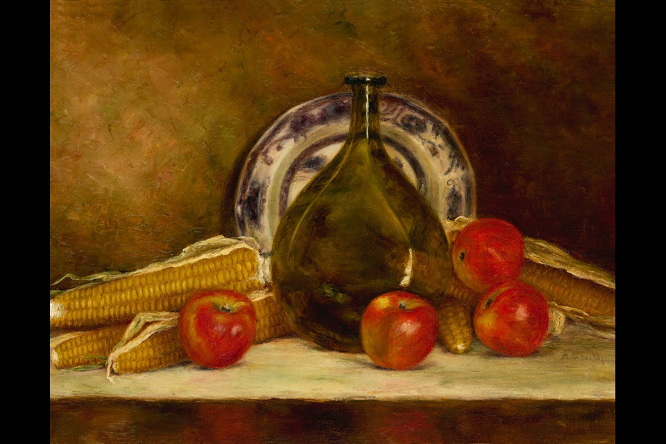 Still life apples corn 11x14 final yp5syj