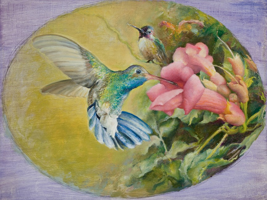 Two hummingbirds   rafferty   painting b4m2vu