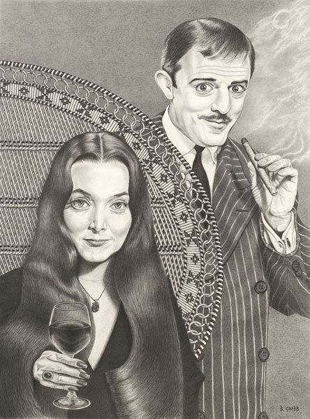 Morticia and gomez fkbabq