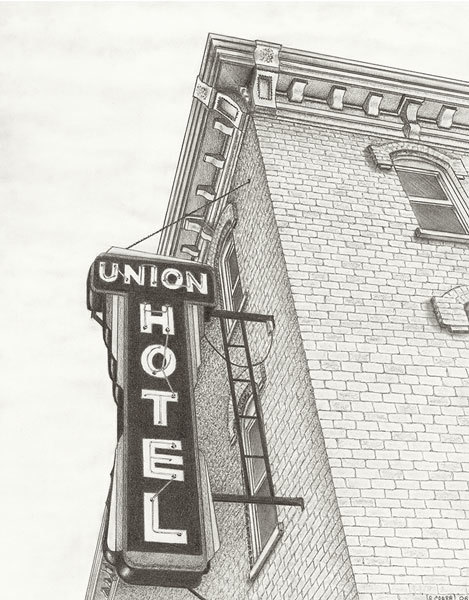 Union hotel sign kc7fvm