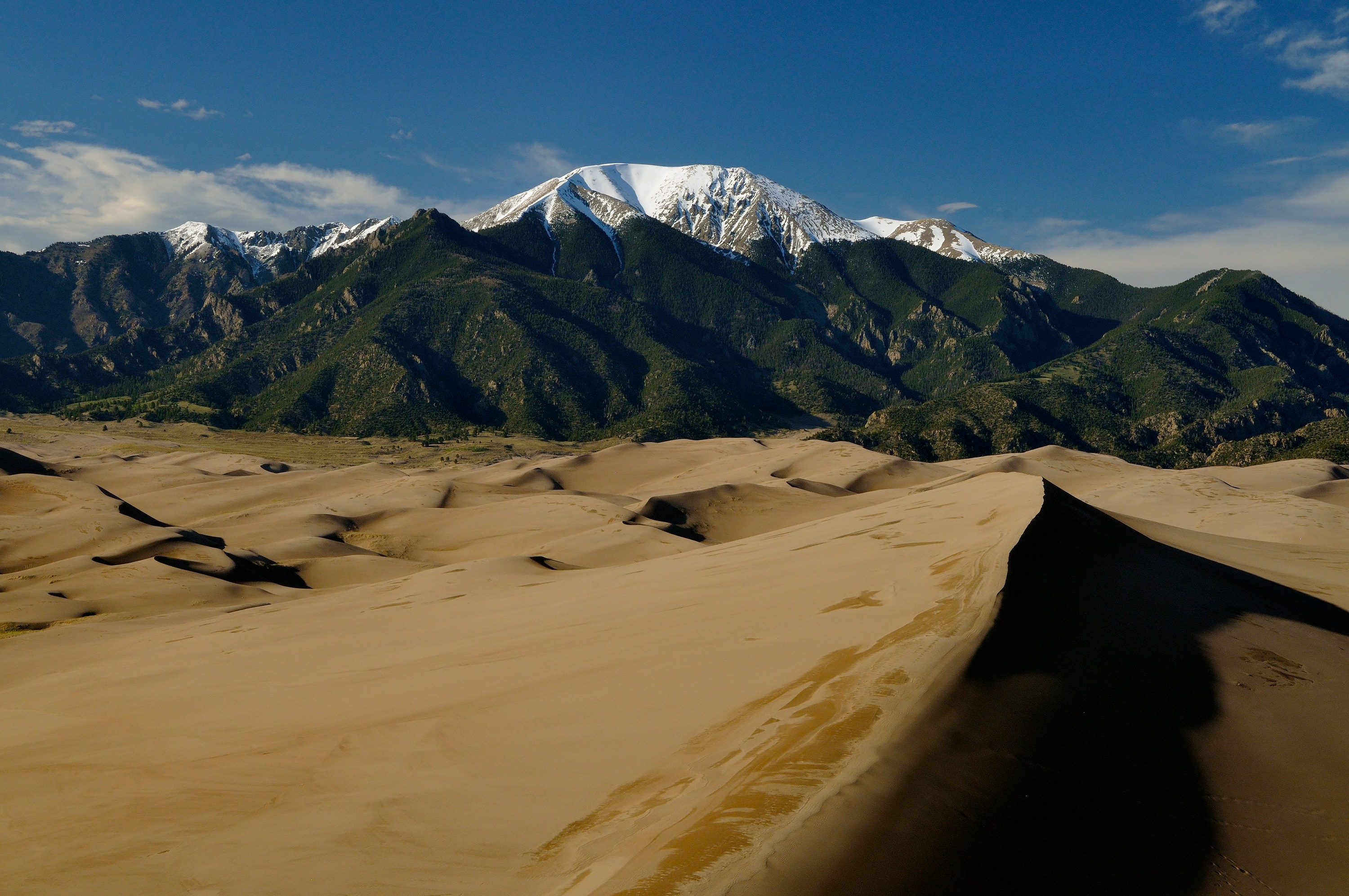 <div class='title'>           Mount Herard & the Dunes         </div>                 <div class='description'>           Mount Herard rises above the dunefield in Great Sand Dunes National Park & Preserve         </div>