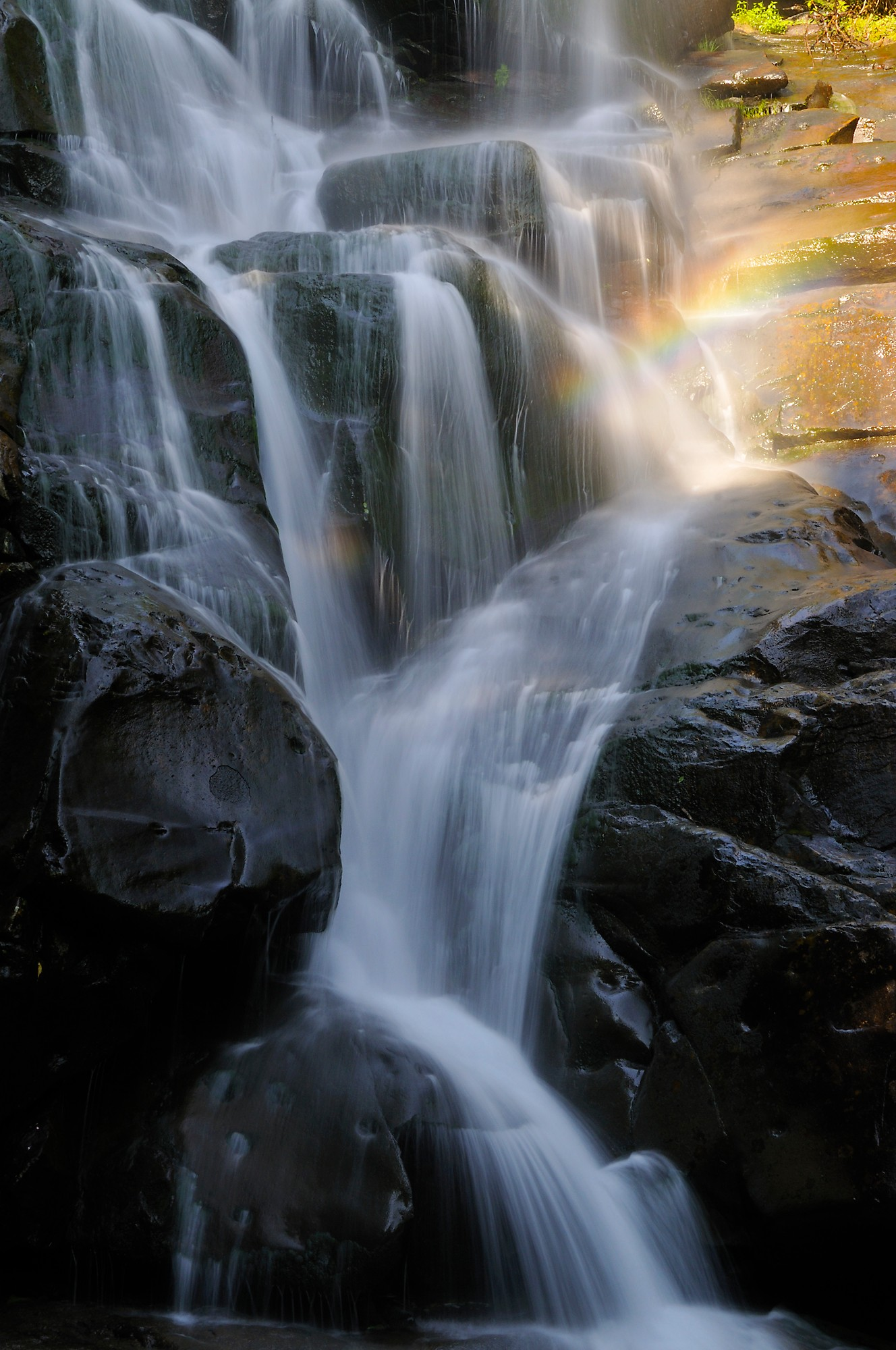 <div class='title'>           Ramsey Cascades & Rainbow         </div>                 <div class='description'>           A Rainbow decorates this view of a section of Ramsey Cascades in Great Smoky Mountains National Park         </div>