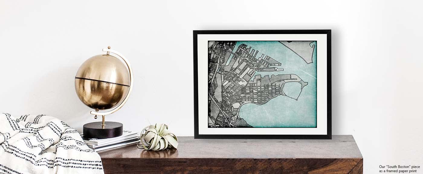 <div class='title'>           Modern Art Print of South Boston - Shop BOSTON art prints. Neighborhood Art | Contemporary City Print | South Boston Art         </div>                 <div class='description'>           Shop our retro collection. South Boston art print for sale by Carland Cartography.          </div>