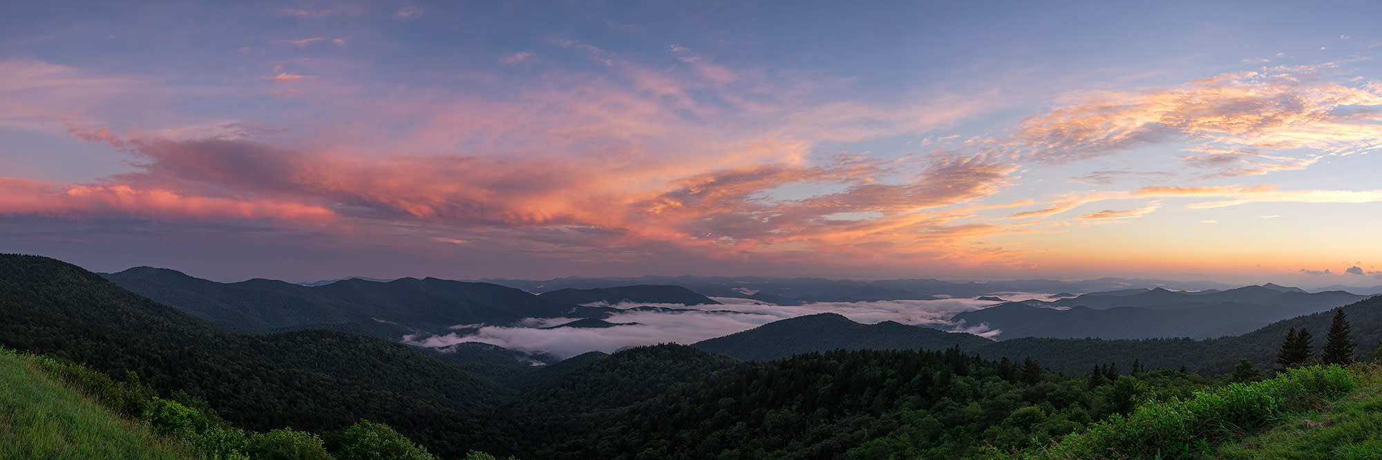 <div class='title'>           Cowee Mountain Summer Sunset Pano         </div>