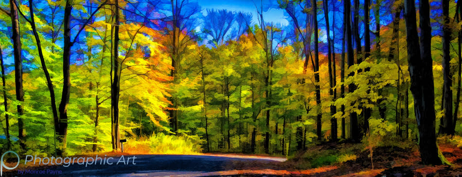 <div class='title'>           Back Road in Autumn          </div>