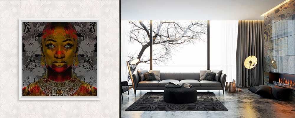 <div class='title'>           Living Room With Tree | Ulia | Golden Goddess         </div>