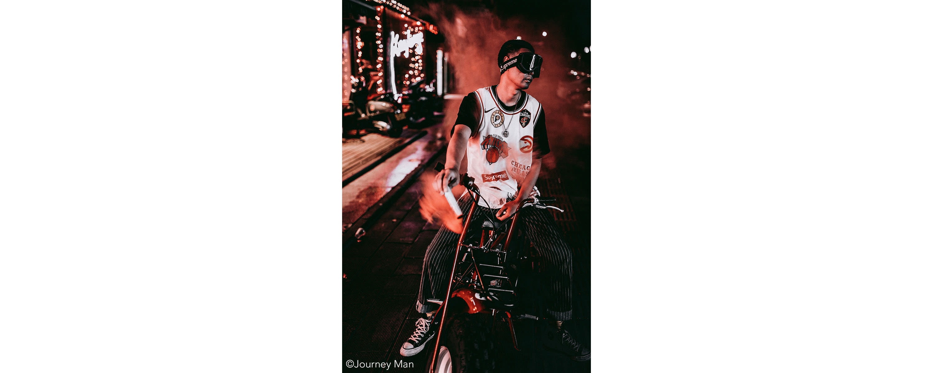 <div class='title'>           Photographer Journey Man's image of this biker has an edgy feel to it and looks amazing on metallic paper         </div>                 <div class='description'>                    </div>