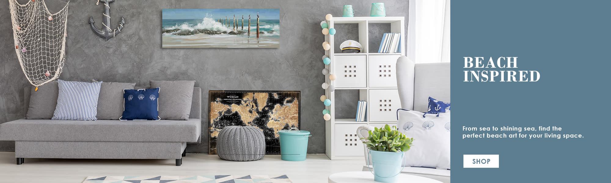 <div class='title'>           Beach Inspired Canvas Art Print Decor Fine Art Canvas         </div>                 <div class='description'>                    </div>