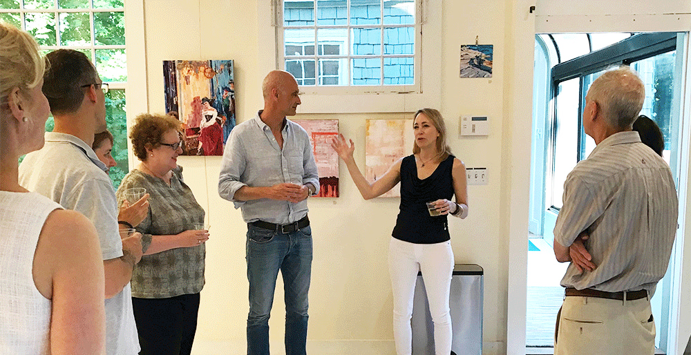 <div class='title'>           Debra Schaumberg | ART Open Studio See Art         </div>                 <div class='description'>           Answering questions about the origin of the original painting Seeing into the Future         </div>