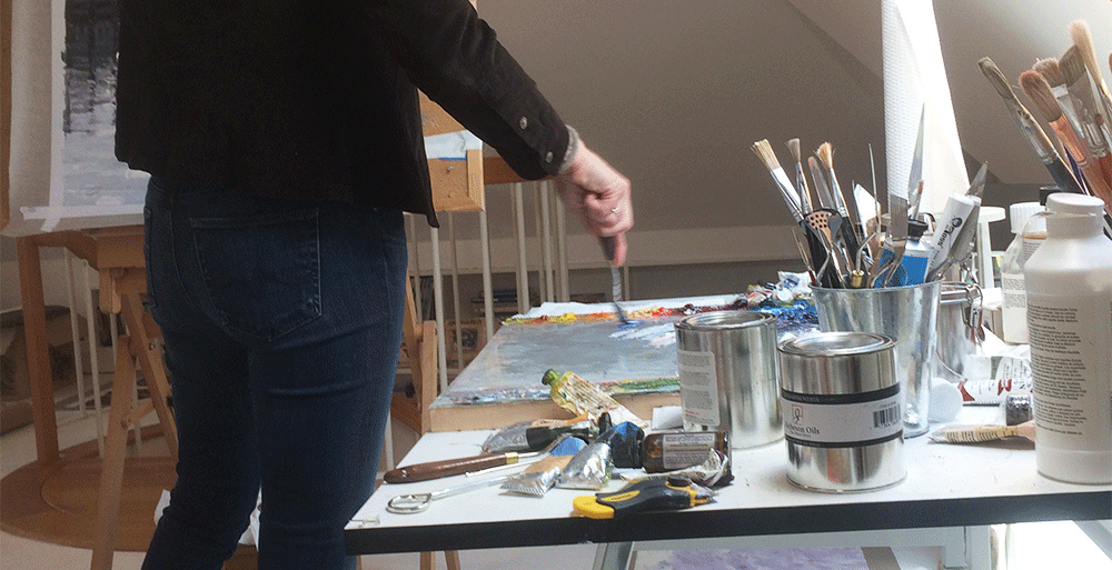 <div class='title'>           Debra Schaumberg ART studio palette         </div>