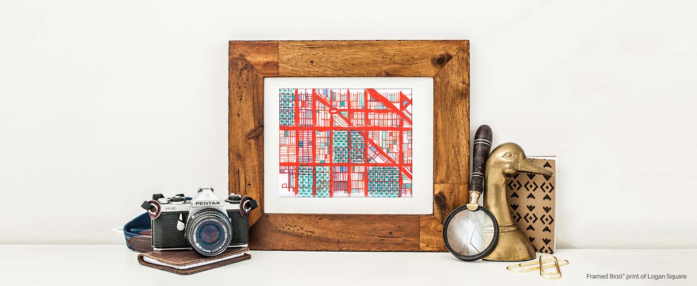 Modern Map Art Coupon