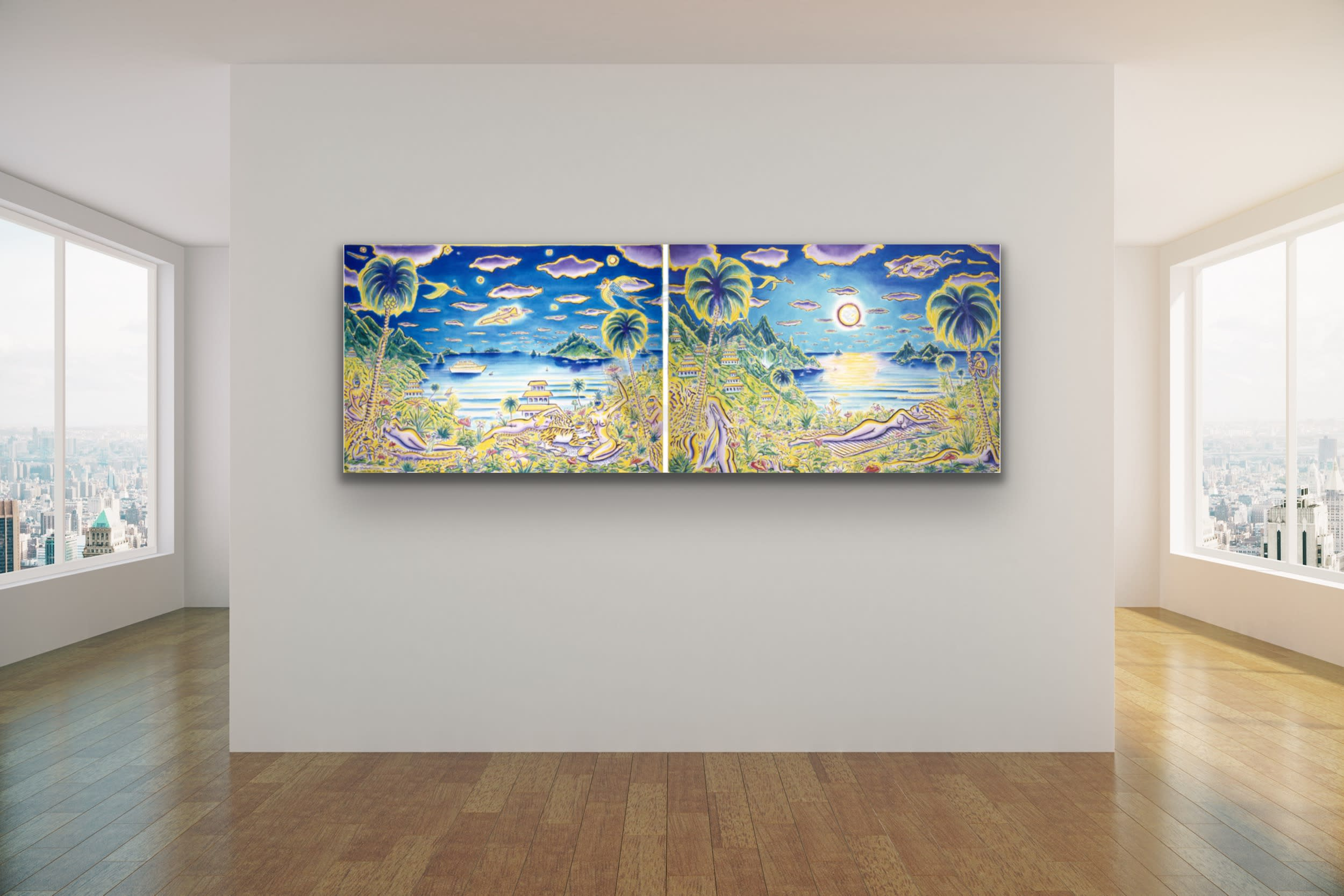 <div class='title'>           Secluded Paradise Diptych         </div>