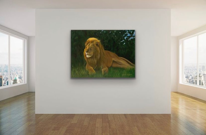 <div class='title'>           Lion by Gary Savage         </div>