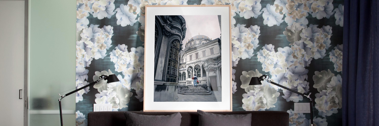 <div class='title'>           Floral Interior Maple Frame Just a Rose Banner         </div>