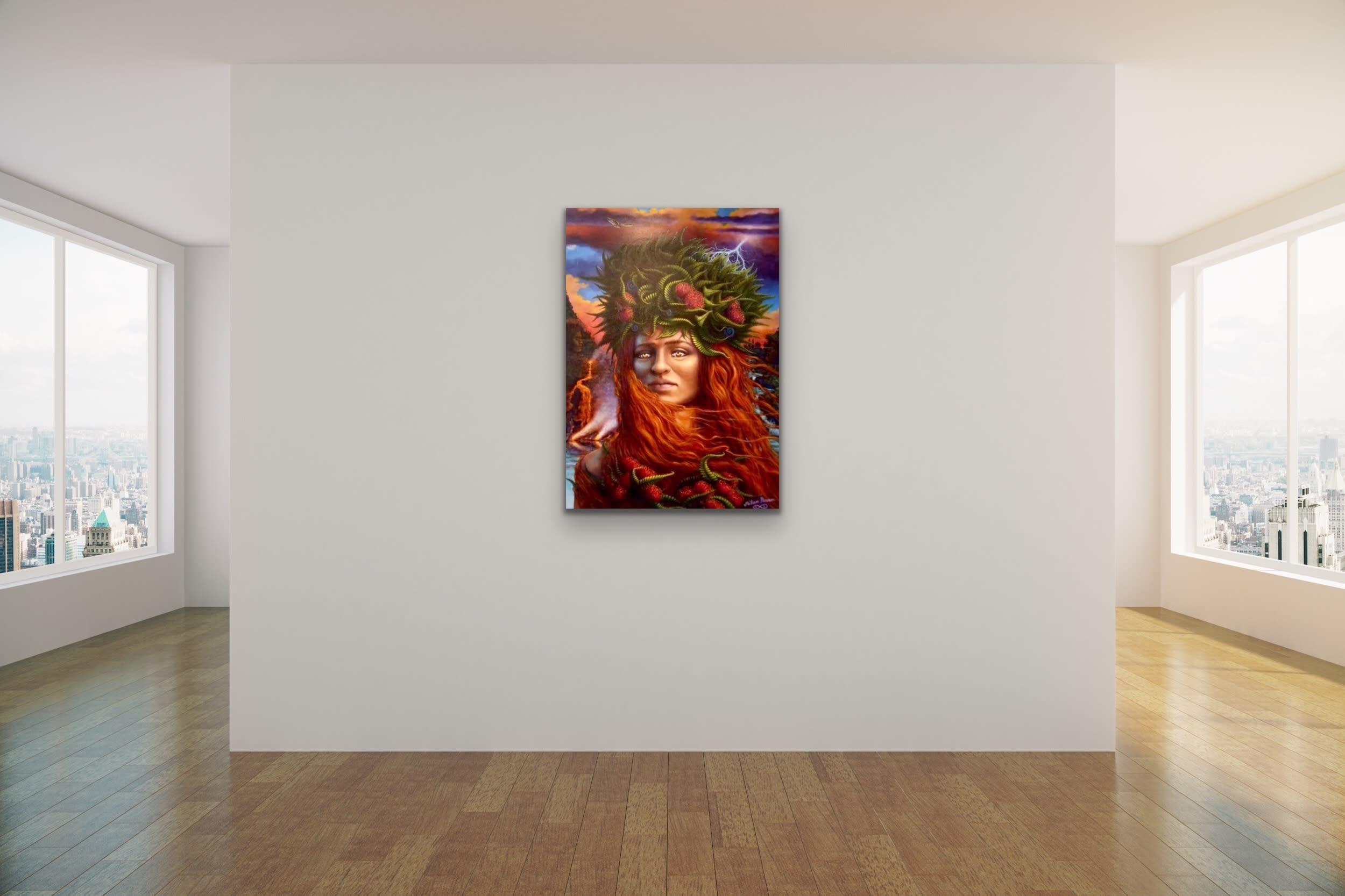 <div class='title'>           Milan Param Mock uP Evo Art Maui Wall Art Gallery Wall Display Lahaina Front St Hawaii Evo Art Maui Pele Goddess Lava Volcano         </div>