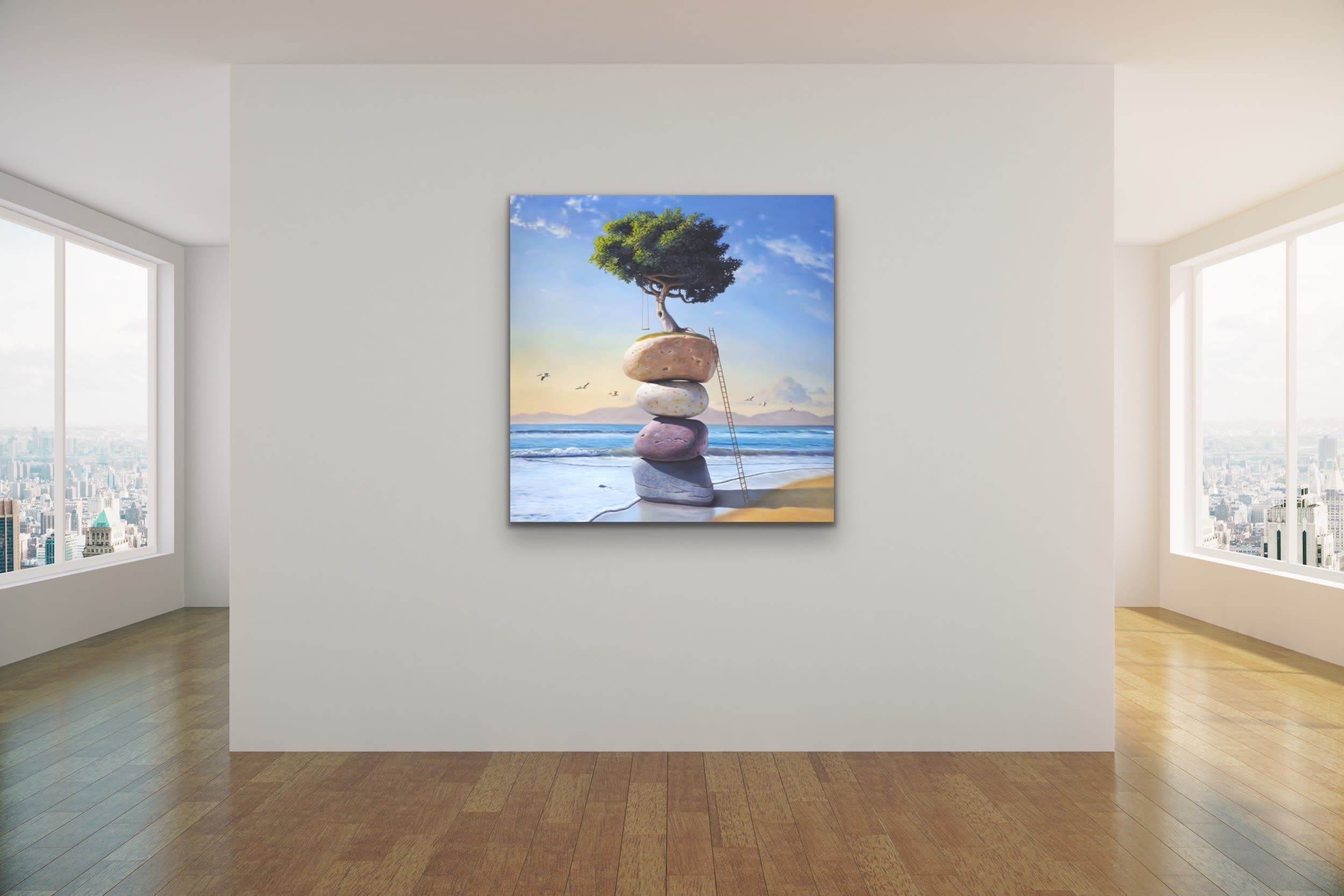 <div class='title'>           Paul Bond Magical Realism Poetry Serene Landscape Animals Nature Surreal Metaphorical Whimsical Fantasy Evo Art Maui Lahaina Front Street Art Gallery 9         </div>