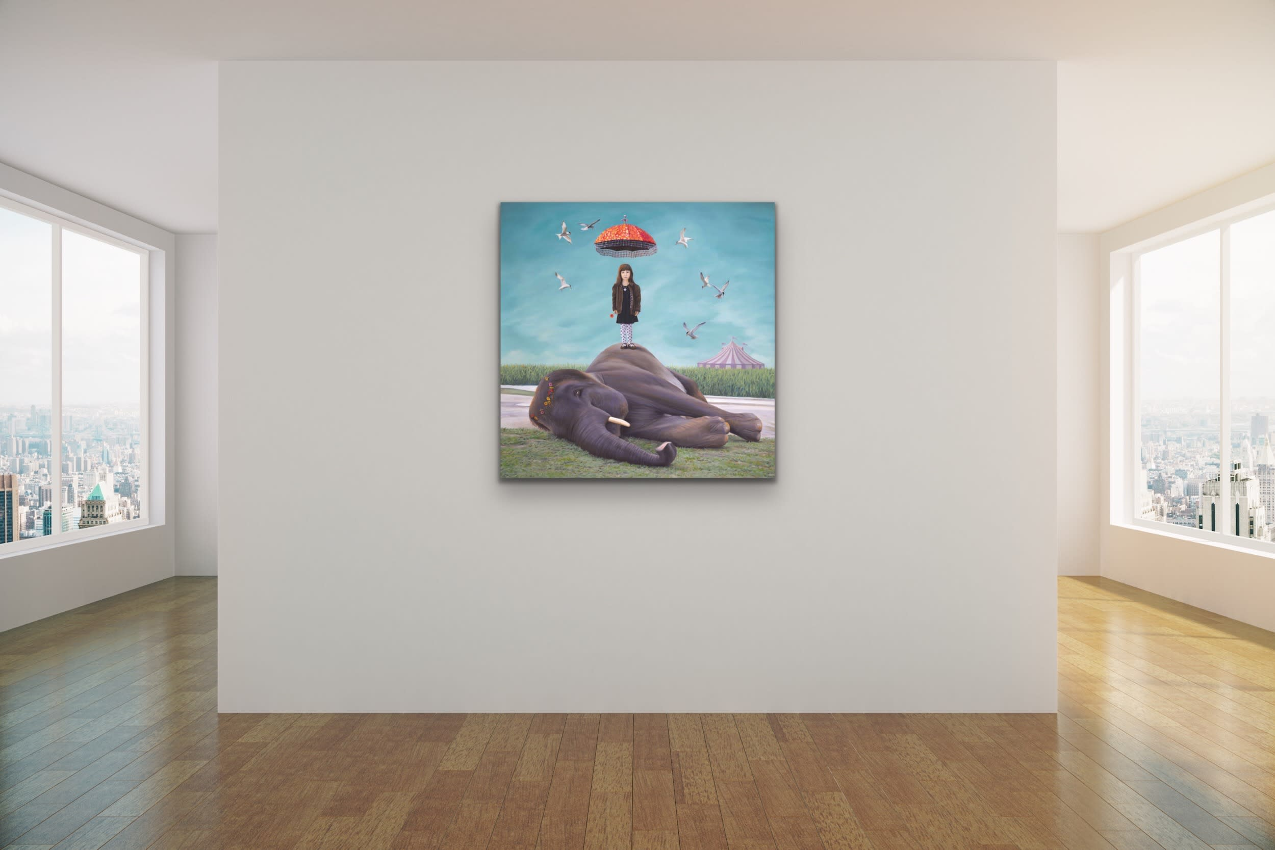<div class='title'>           Paul Bond Magical Realism Poetry Serene Landscape Animals Nature Surreal Metaphorical Whimsical Fantasy Evo Art Maui Lahaina Front Street Art Gallery 15         </div>