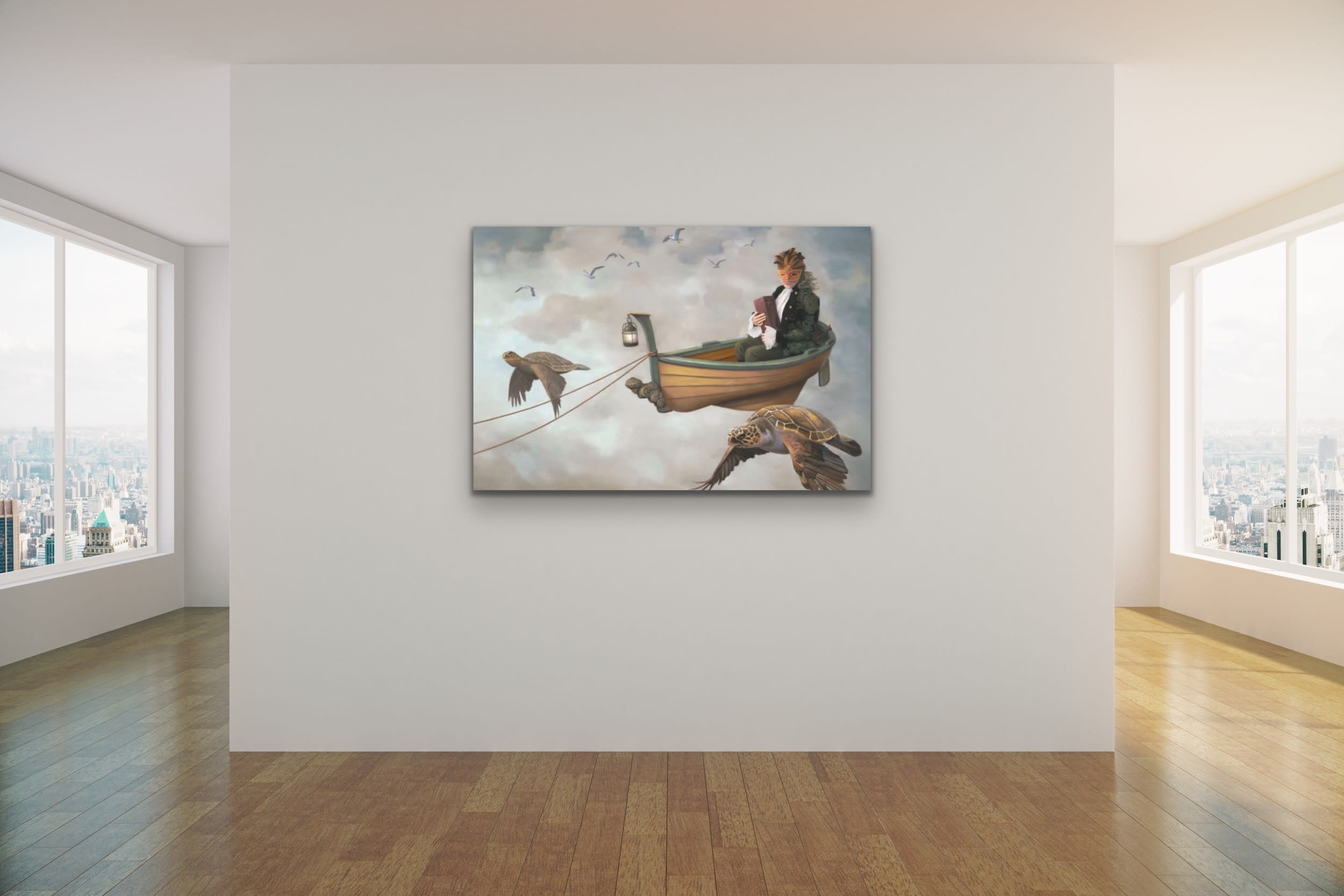<div class='title'>           Paul Bond Magical Realism Poetry Serene Landscape Animals Nature Surreal Metaphorical Whimsical Fantasy Evo Art Maui Lahaina Front Street Art Gallery 19         </div>