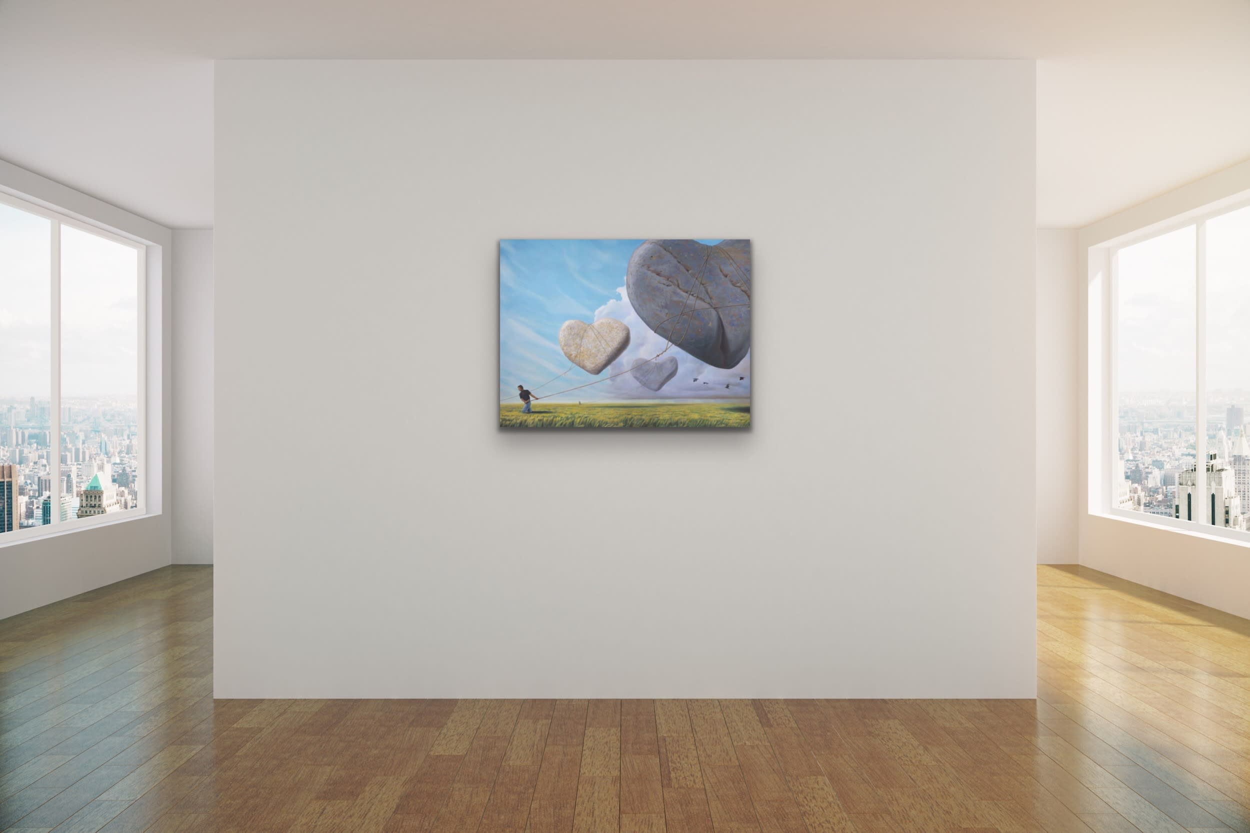 <div class='title'>           Paul Bond Magical Realism Poetry Serene Landscape Animals Nature Surreal Metaphorical Whimsical Fantasy Evo Art Maui Lahaina Front Street Art Gallery 23         </div>