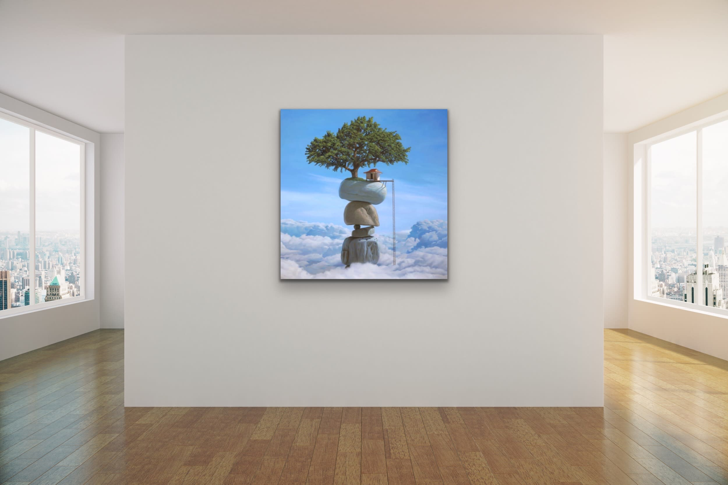 <div class='title'>           Paul Bond Magical Realism Poetry Serene Landscape Animals Nature Surreal Metaphorical Whimsical Fantasy Evo Art Maui Lahaina Front Street Art Gallery 24         </div>