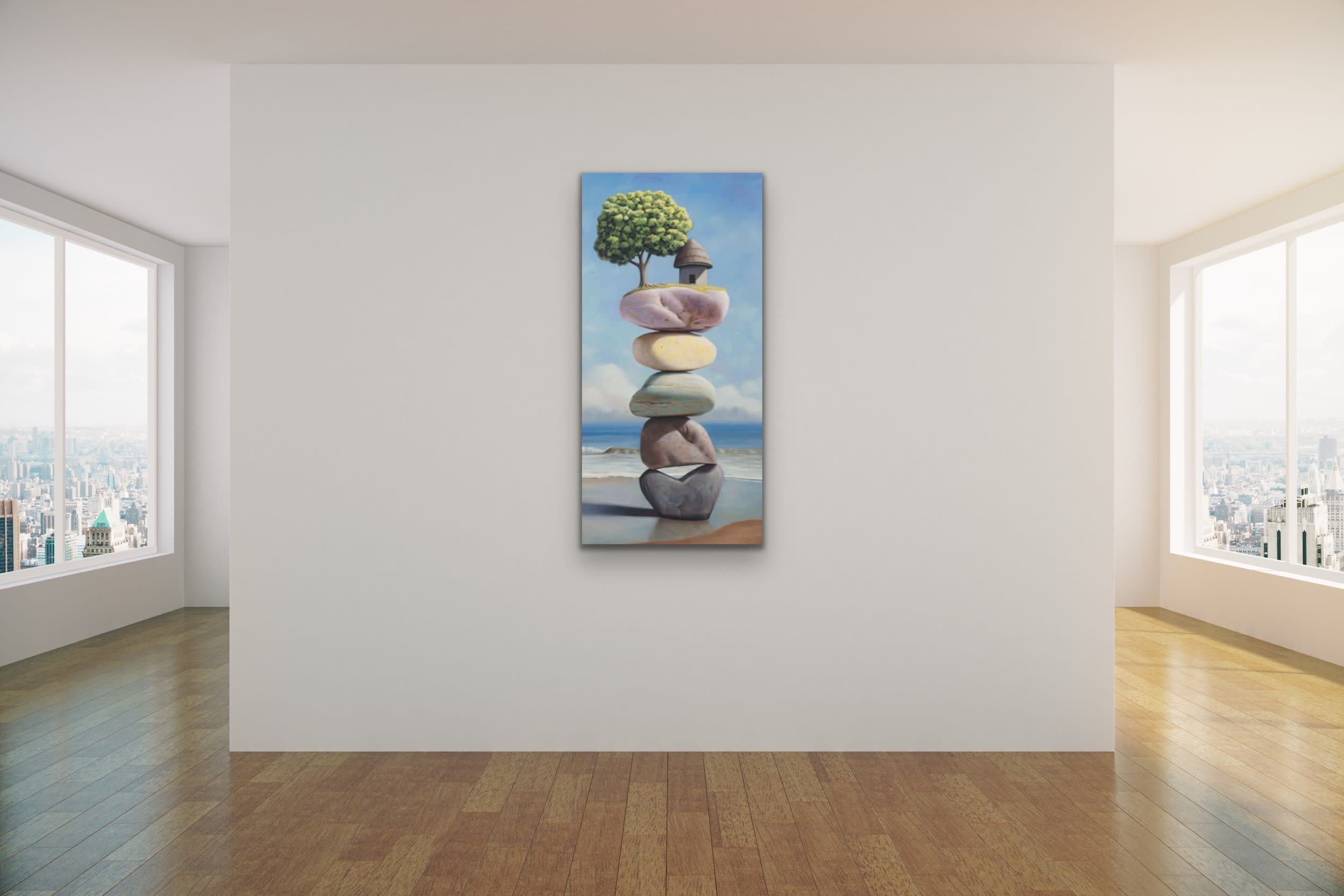 <div class='title'>           Paul Bond Magical Realism Poetry Serene Landscape Animals Nature Surreal Metaphorical Whimsical Fantasy Evo Art Maui Lahaina Front Street Art Gallery 39         </div>