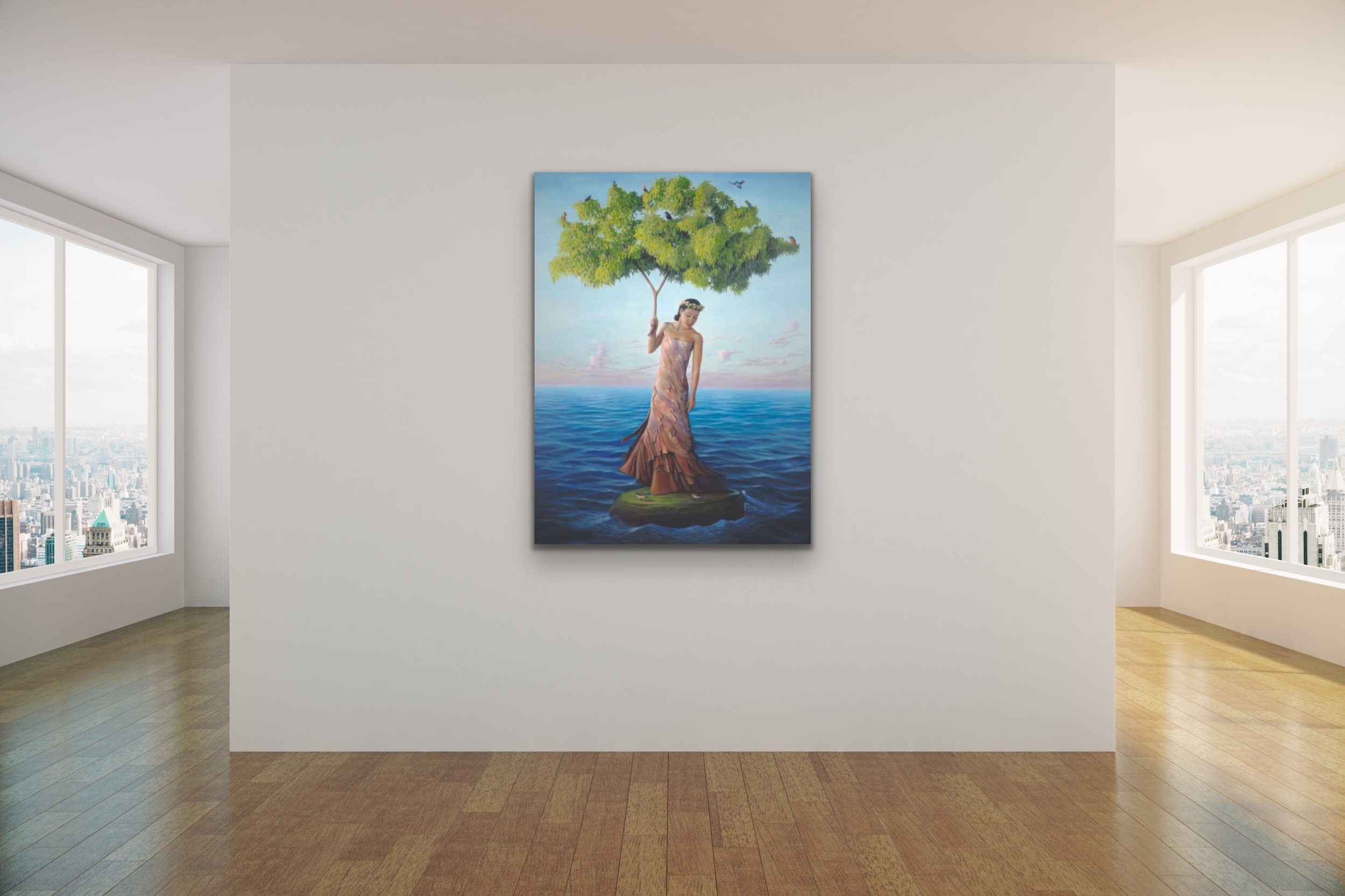<div class='title'>           Paul Bond Magical Realism Poetry Serene Landscape Animals Nature Surreal Metaphorical Whimsical Fantasy Evo Art Maui Lahaina Front Street Art Gallery 41         </div>