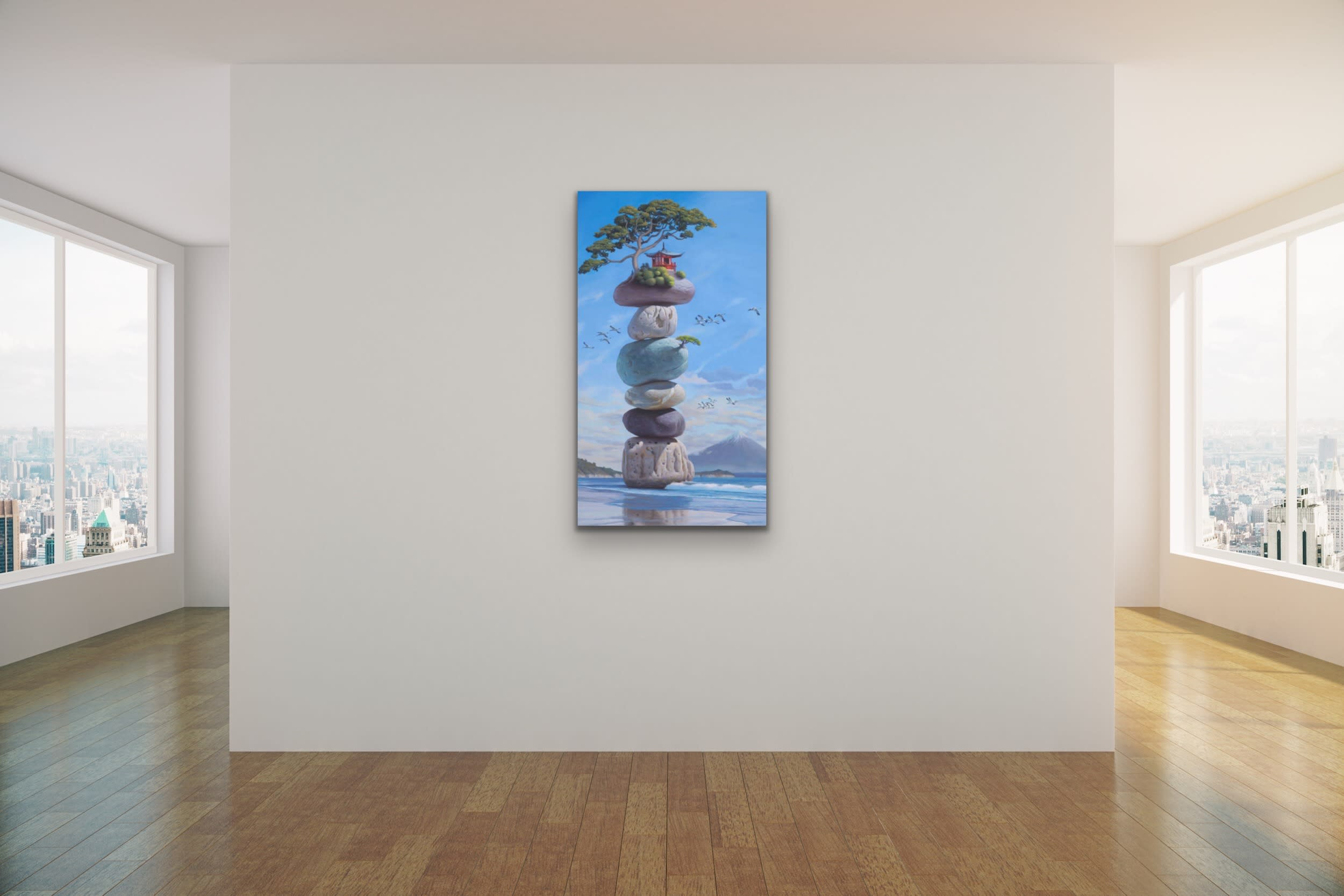 <div class='title'>           Paul Bond Magical Realism Poetry Serene Landscape Animals Nature Surreal Metaphorical Whimsical Fantasy Evo Art Maui Lahaina Front Street Art Gallery 43         </div>