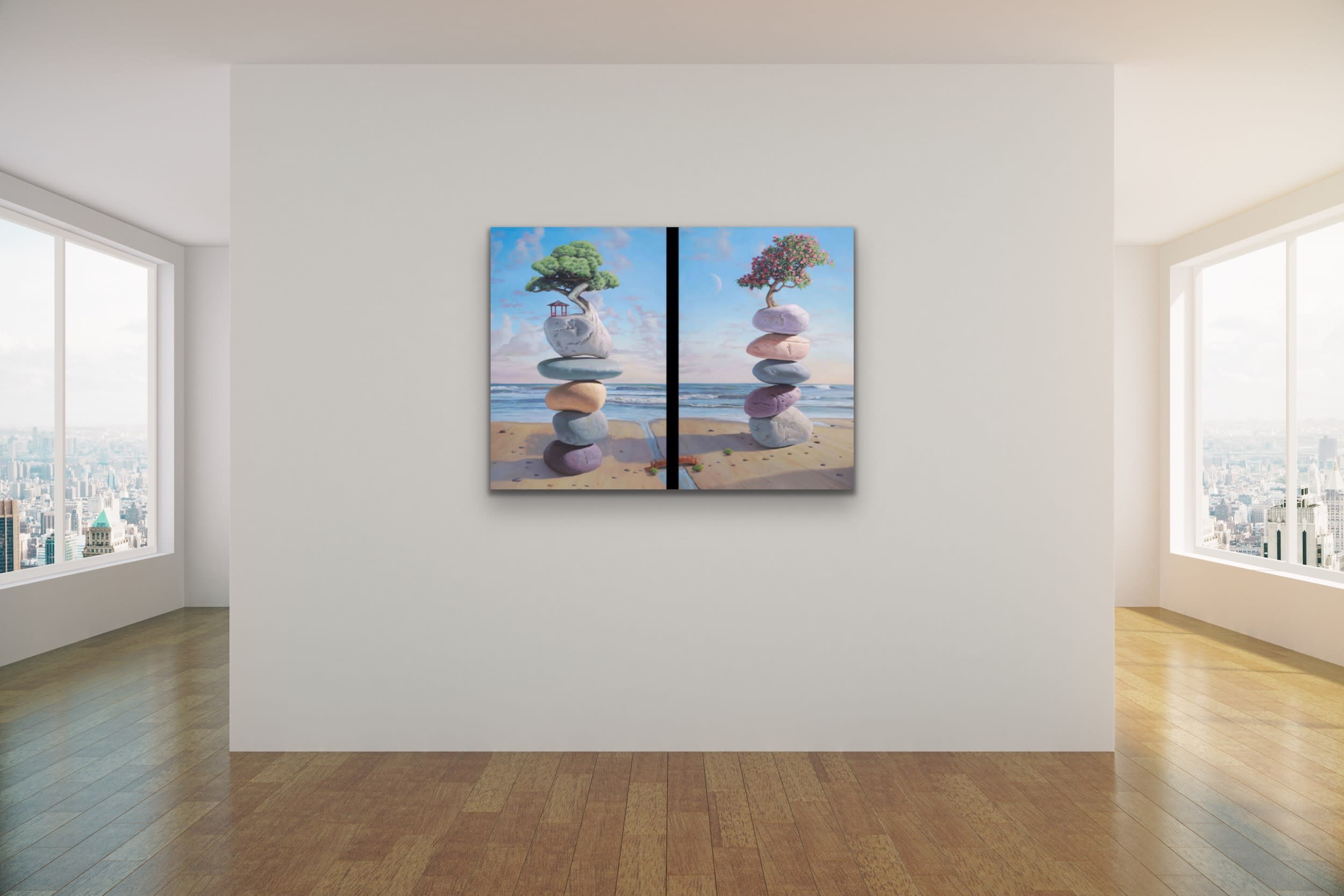<div class='title'>           Paul Bond Magical Realism Poetry Serene Landscape Animals Nature Surreal Metaphorical Whimsical Fantasy Evo Art Maui Lahaina Front Street Art Gallery 58         </div>