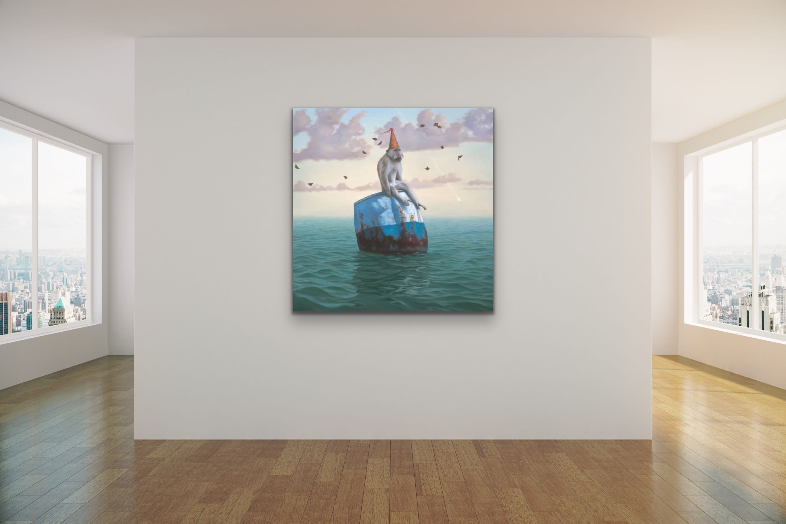 <div class='title'>           Paul Bond Magical Realism Poetry Serene Landscape Animals Nature Surreal Metaphorical Whimsical Fantasy Evo Art Maui Lahaina Front Street Art Gallery 61         </div>