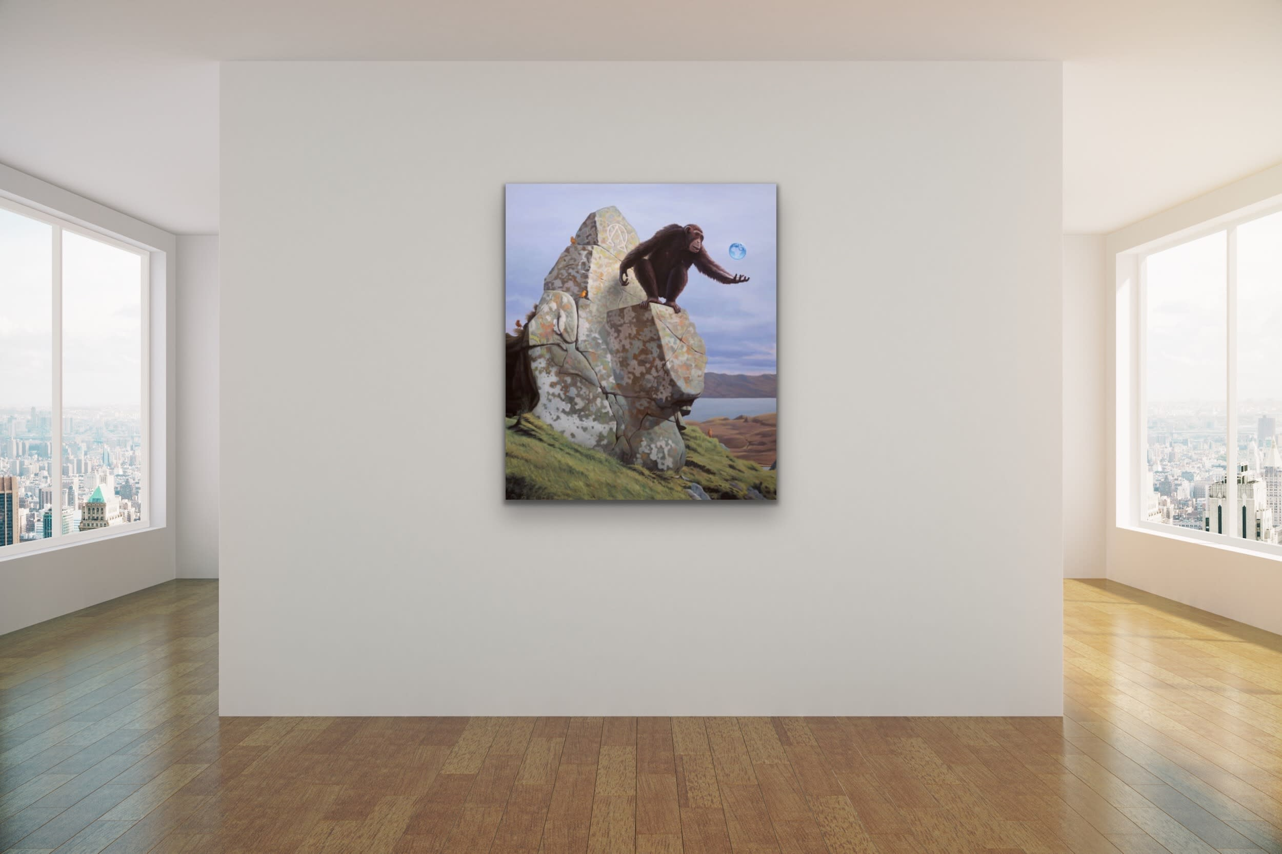 <div class='title'>           Paul Bond Magical Realism Poetry Serene Landscape Animals Nature Surreal Metaphorical Whimsical Fantasy Evo Art Maui Lahaina Front Street Art Gallery 63         </div>