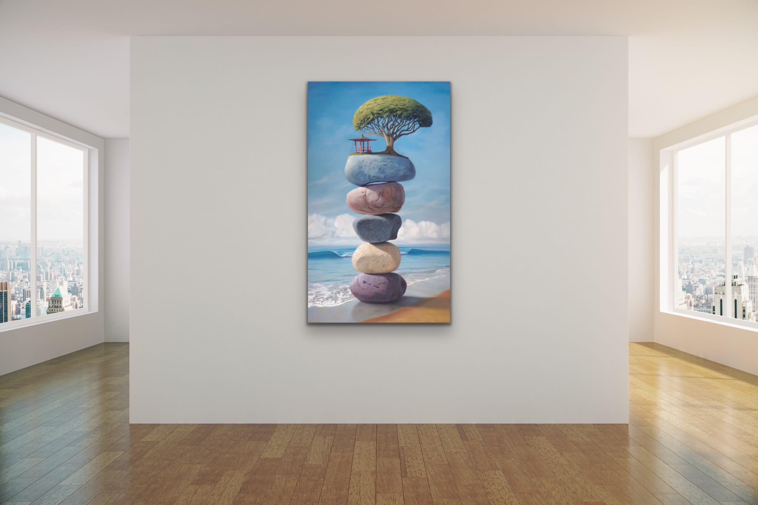 <div class='title'>           Paul Bond Magical Realism Poetry Serene Landscape Animals Nature Surreal Metaphorical Whimsical Fantasy Evo Art Maui Lahaina Front Street Art Gallery 64         </div>