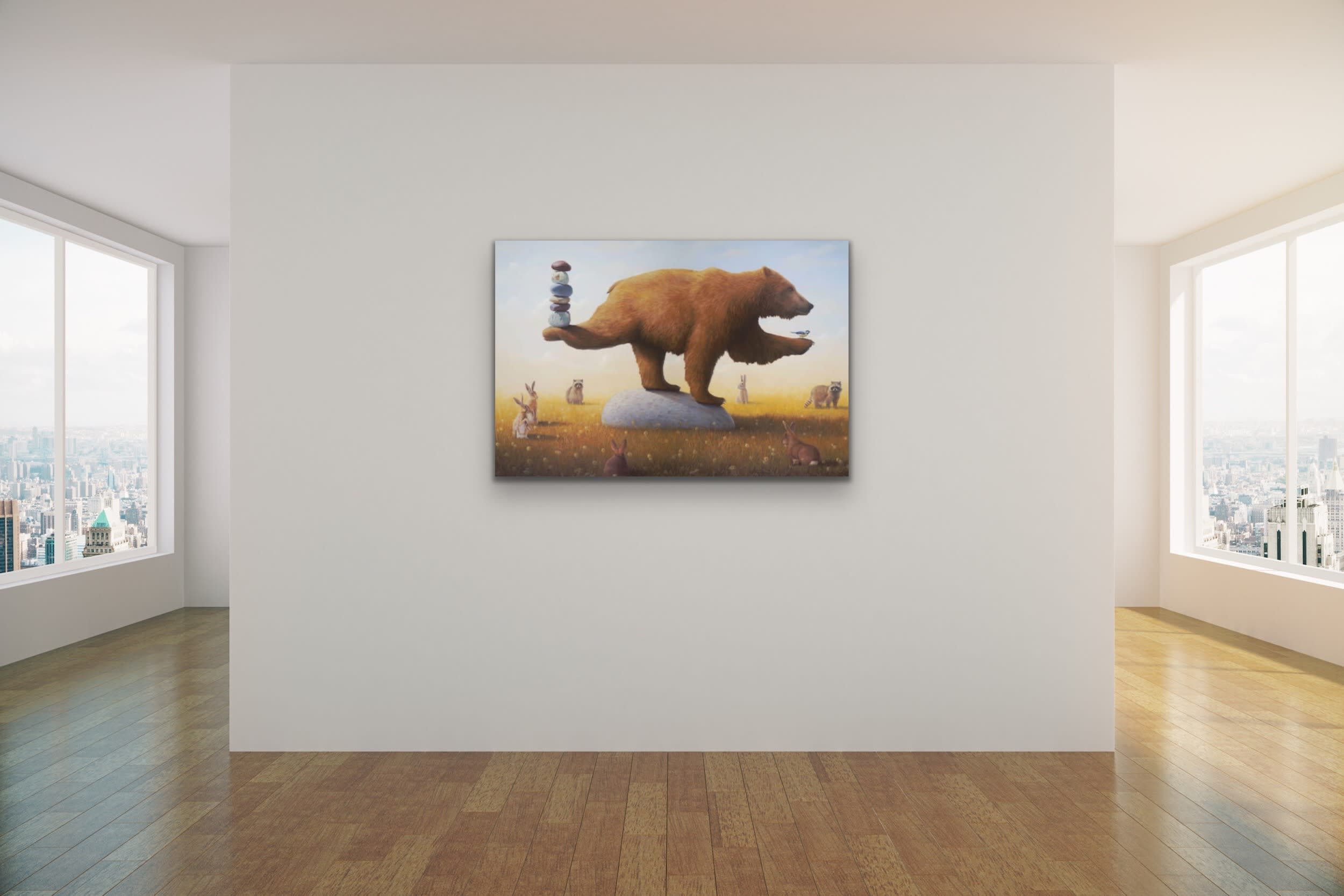 <div class='title'>           Paul Bond Magical Realism Poetry Serene Landscape Animals Nature Surreal Metaphorical Whimsical Fantasy Evo Art Maui Lahaina Front Street Art Gallery 69         </div>